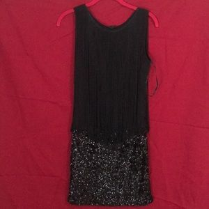 Honey Punch mini dress sequins and string size S
